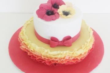 Torte rot gelb