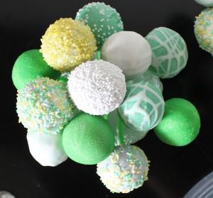 Cakepops in gelb & grün