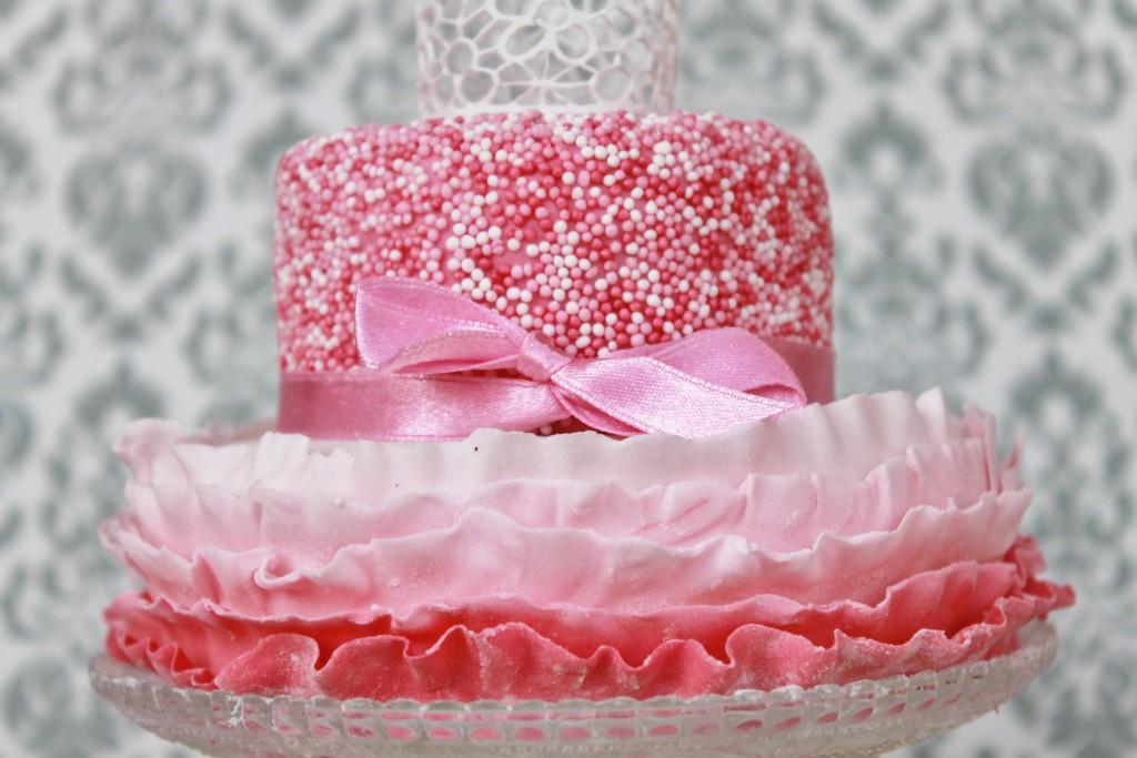Mädchentorte rosa