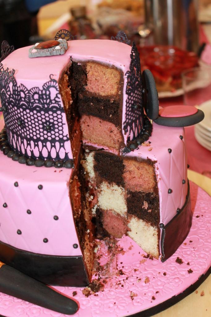 Schachbrettmuster Kuchen