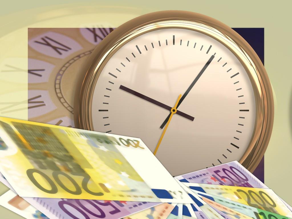 Zeit und Geld für Torten
