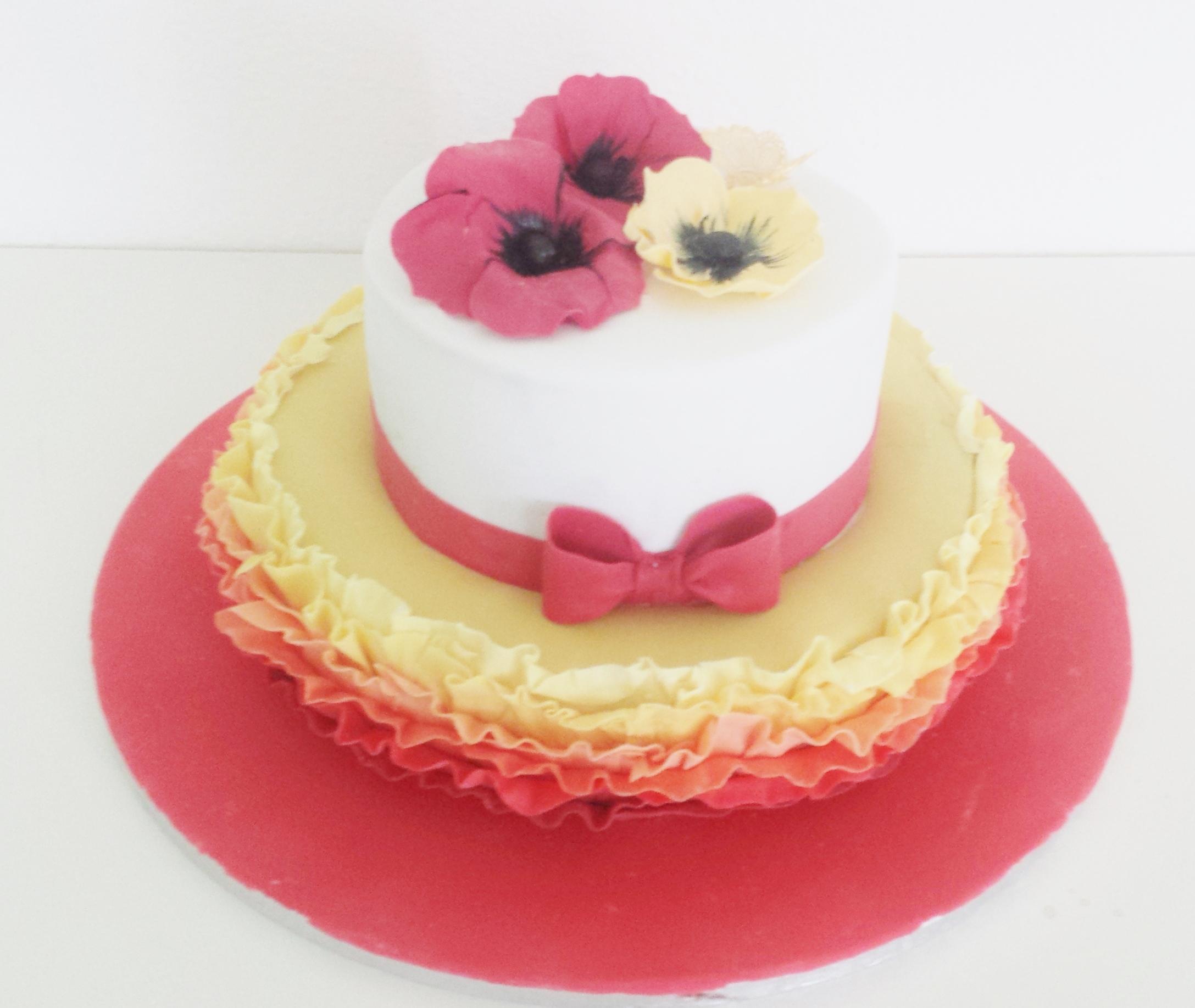 Mohnblumen Torte